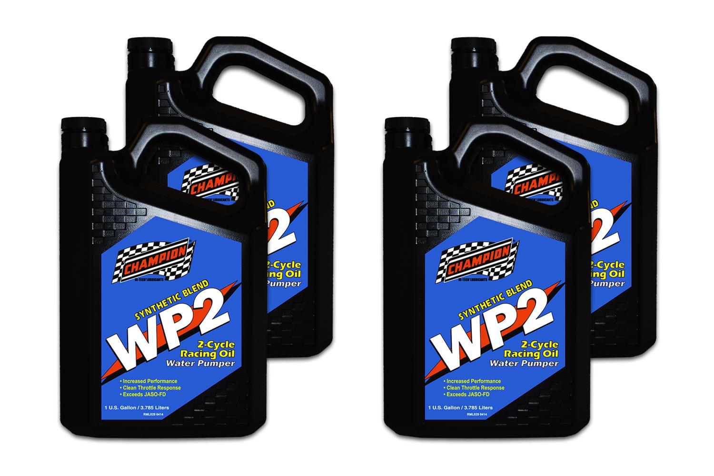 Champion Brand WP2 2 Cycle Racing Oil JASO FD Case 4 x 1Gallon