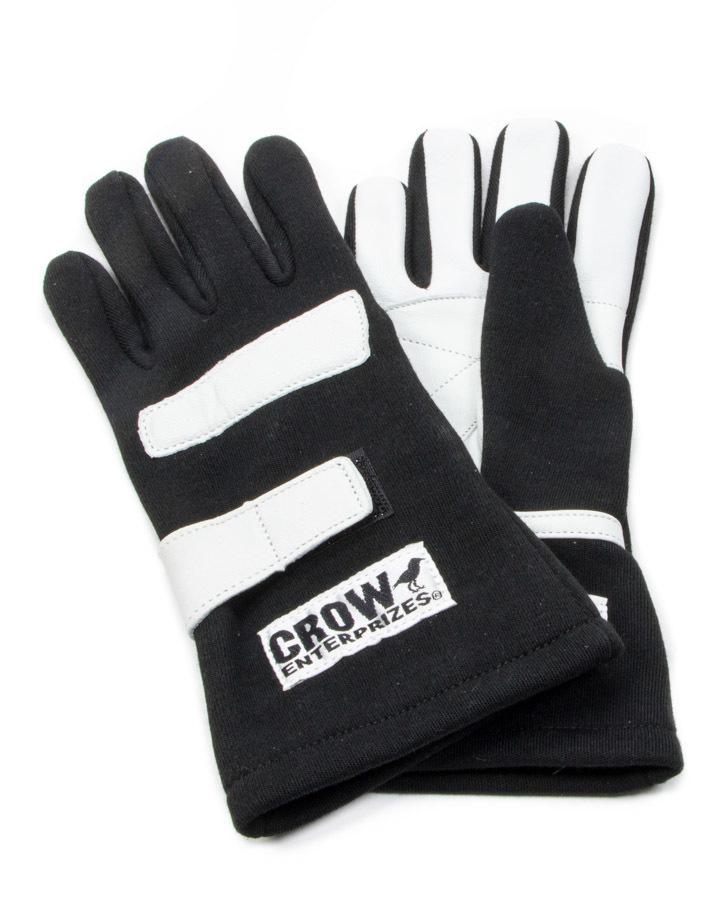 Crow Enterprizes Gloves Small Black Nomex 2-Layer Standard