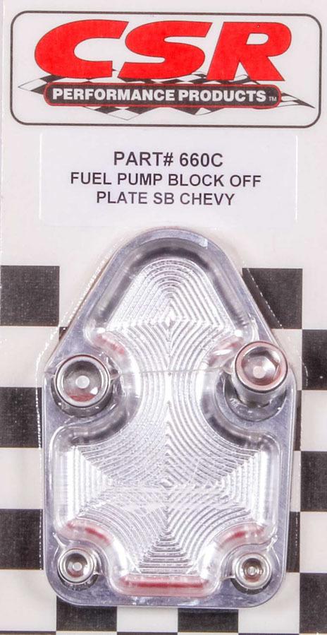 Csr Performance SBC F/P Block-Off Plate - Clear