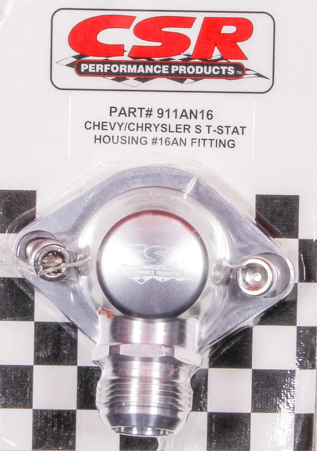 Csr Performance Chevy Swivel Thermostat Housing - Clear