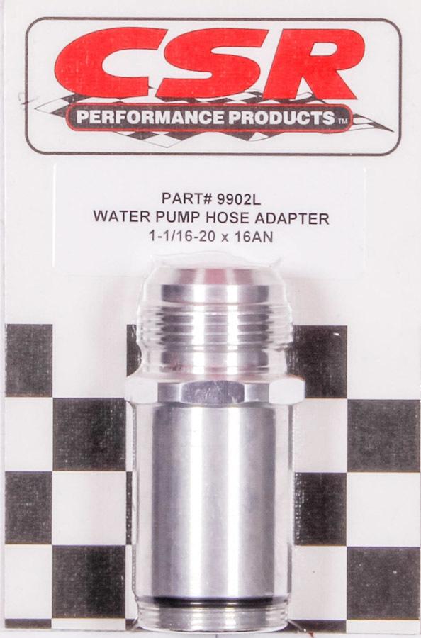 Csr Performance Water Pump Hose Adapter - 1-1/16 x 16an