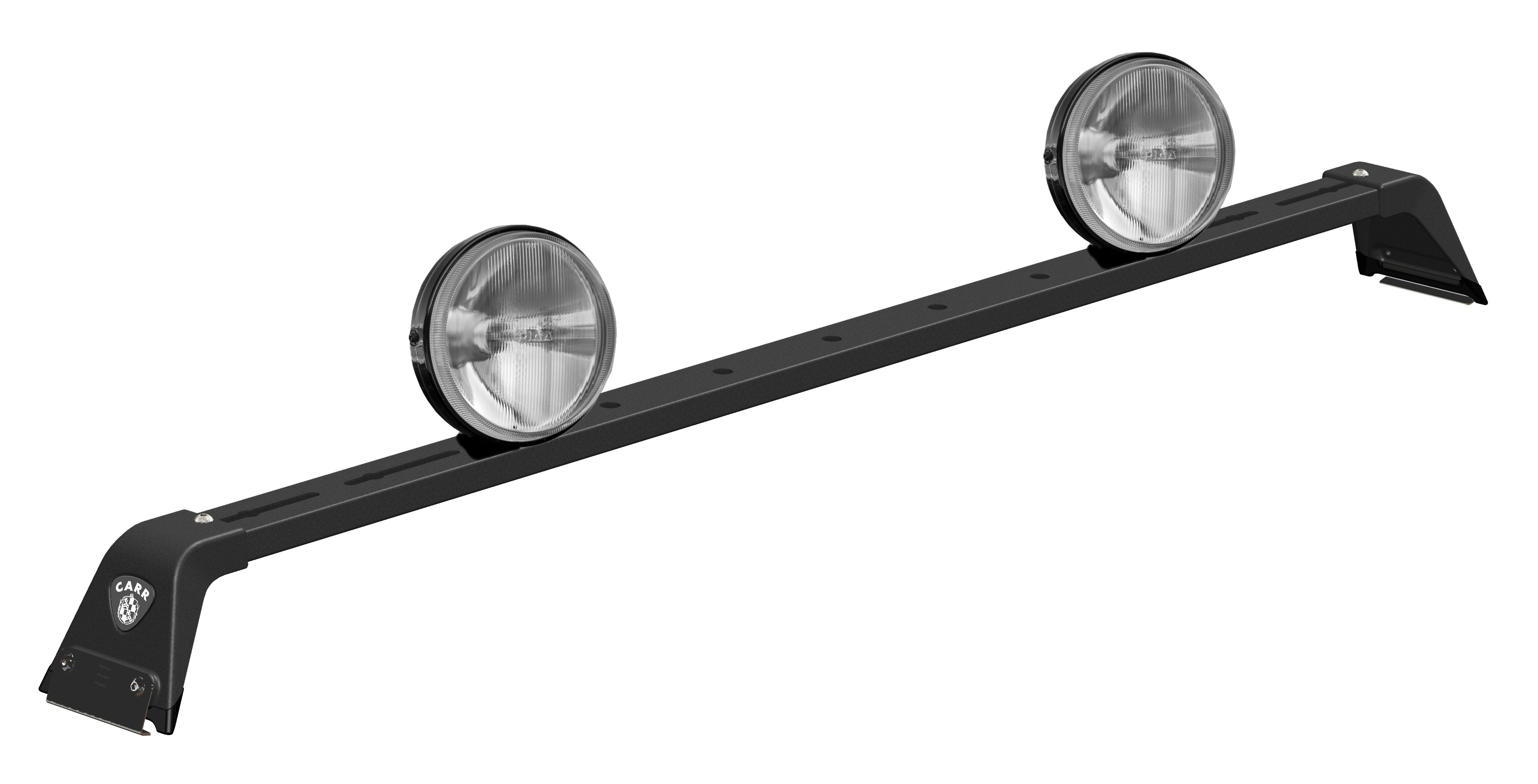 Carr M-Profile Light Bar Blac k Powder Coat