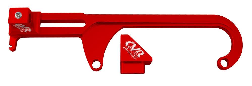 Cvr Performance 4500 Throttle Cable Brkt GM & Morse - Red