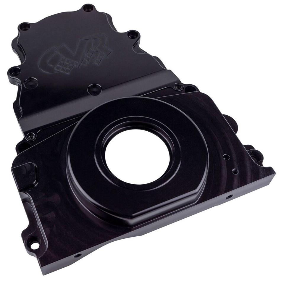 Cvr Performance GM LS Billet Timing Cover 2-Piece Black