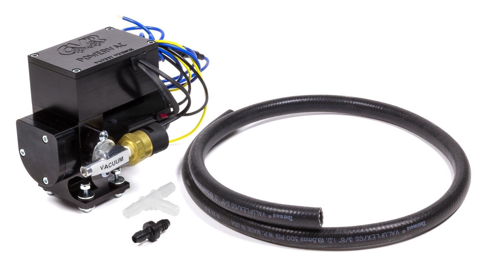Cvr Performance 12 Volt Electric Vacuum Pump Black Anodized