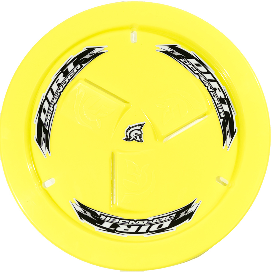 Dirt Defender Racing Products Wheel Cover Neon Yellow Vented