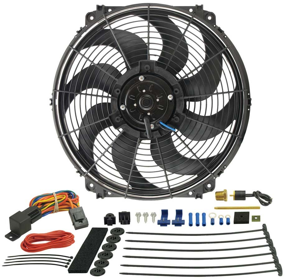Derale 16in Tornado Fan and Thermostat Kit