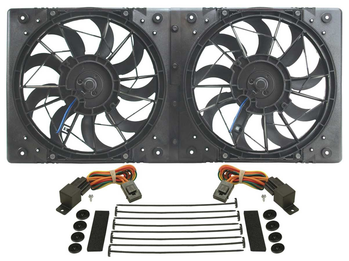 Derale 10in Dual High Output RAD Fans Puller