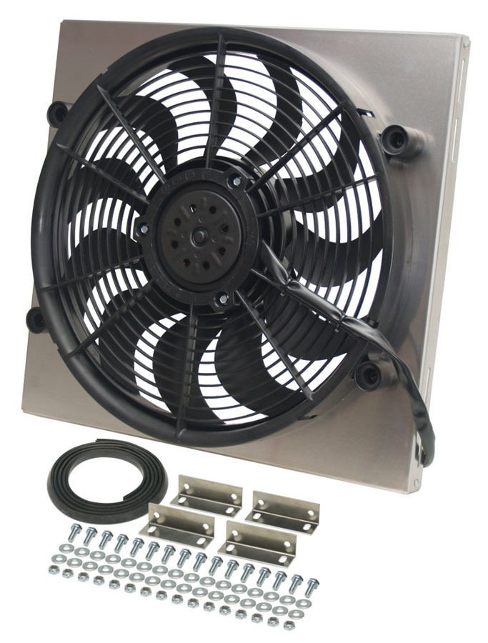 Derale RAD Fan with Aluminum Shroud Assembly