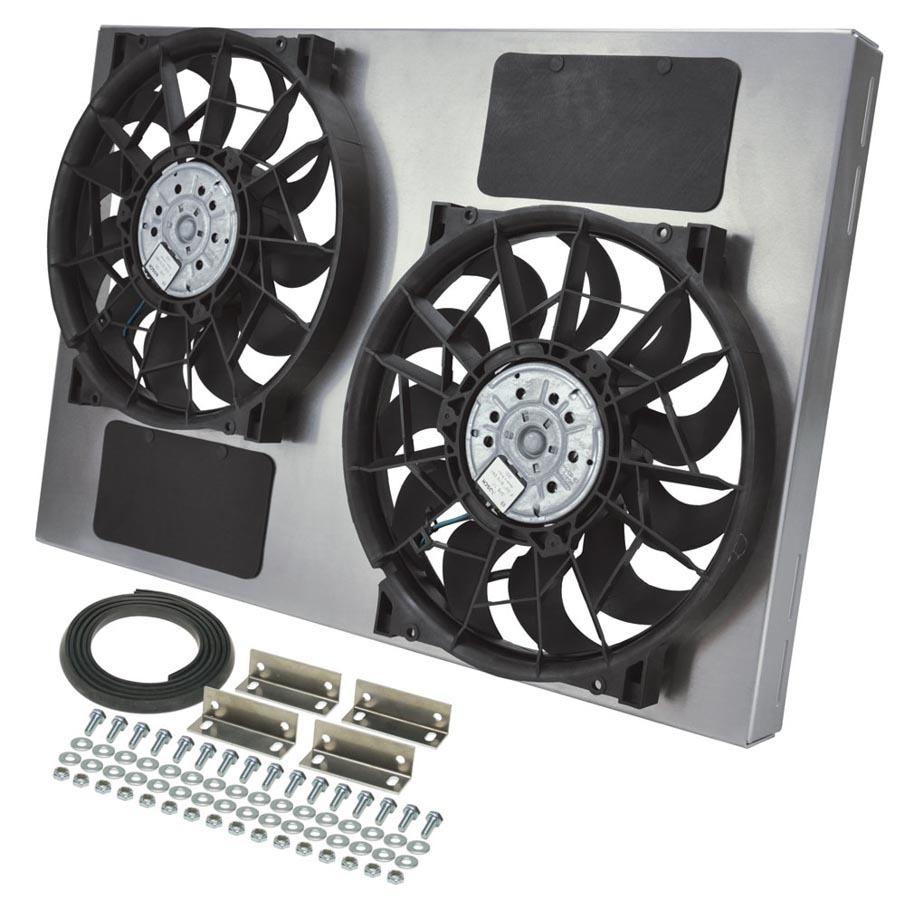 Derale Dual RAD Fan w/Alum Shroud Assembly