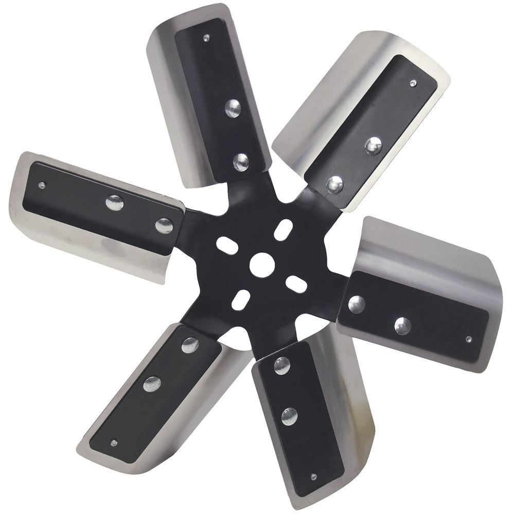 Derale 13in Stainless Steel Fleex Fan (Black Hub)