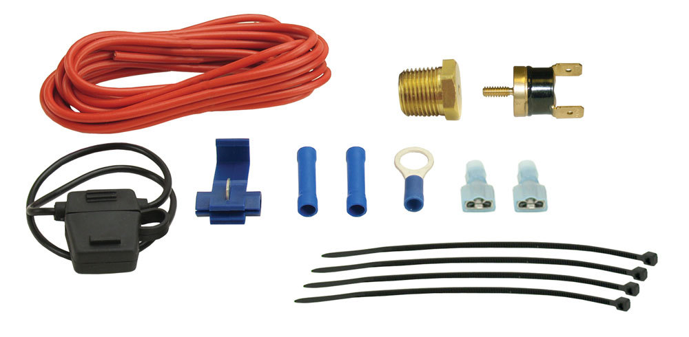 Derale Single Stage 180F Thermostat Push In Probe
