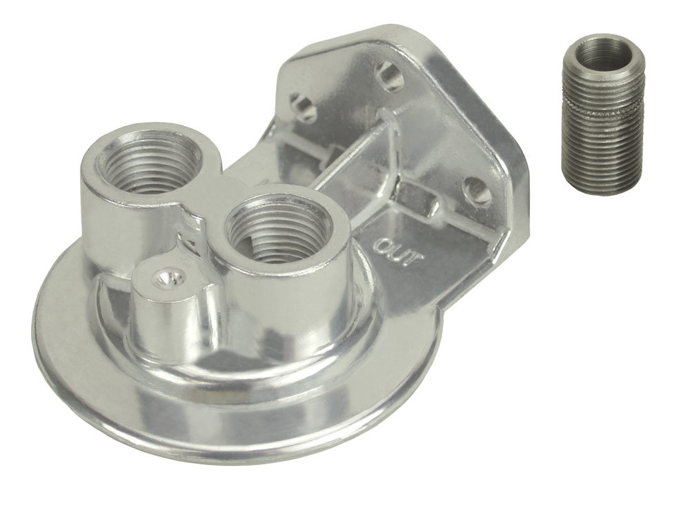 Derale Ports-Up Filter Mount 1/2in NPT