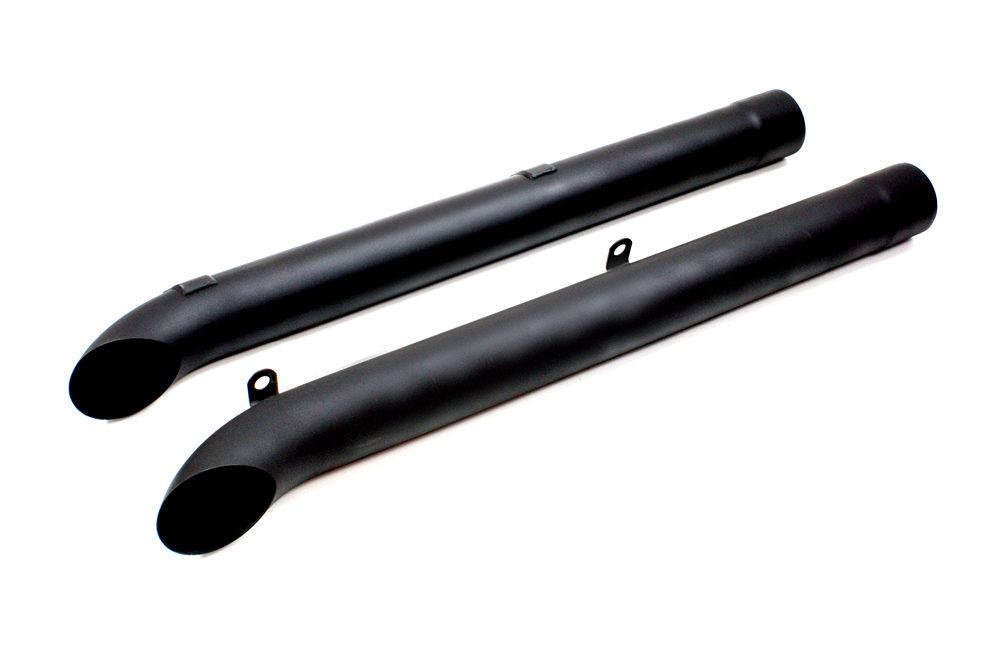 Dougs Headers Side Pipes - Black (Pair)