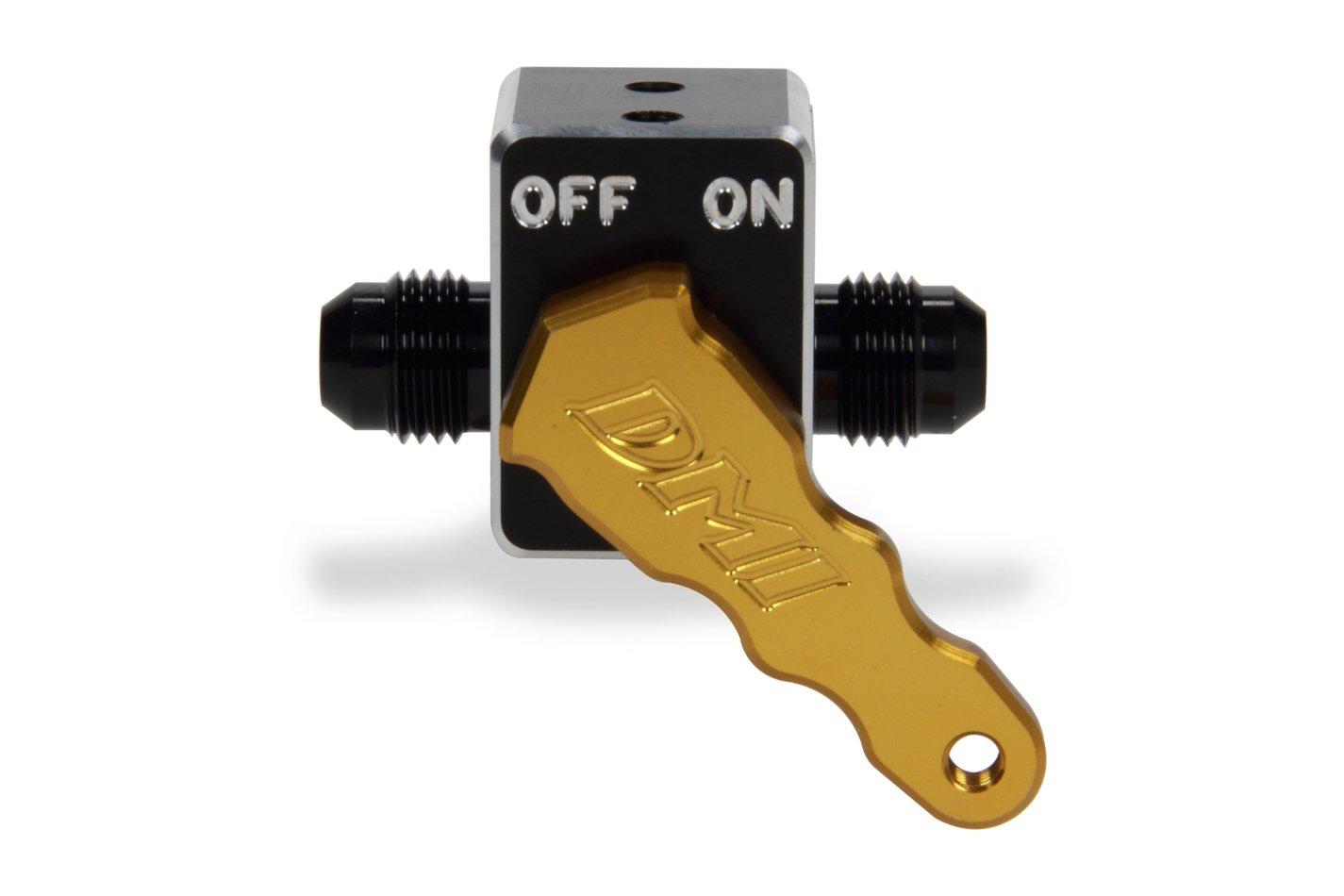 Diversified Machine Aluminum Fuel Shut-Off Valve - Gold Handle