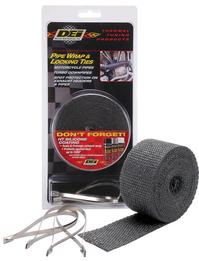 Design Engineering Exhaust Wrap Kits-Kit - Pipe Wrap & Locking Tie
