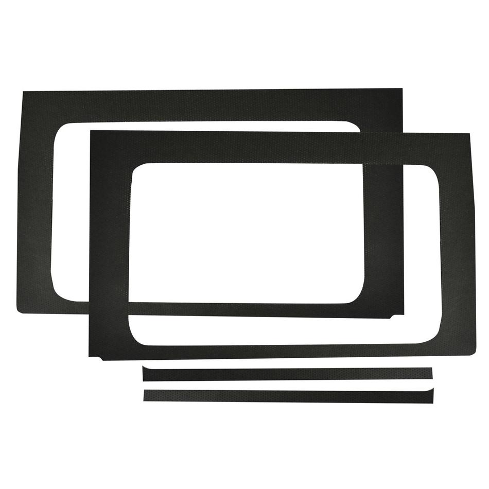 Design Engineering Jeep JL 4 DR 18-   Side Window Black Leather Lo