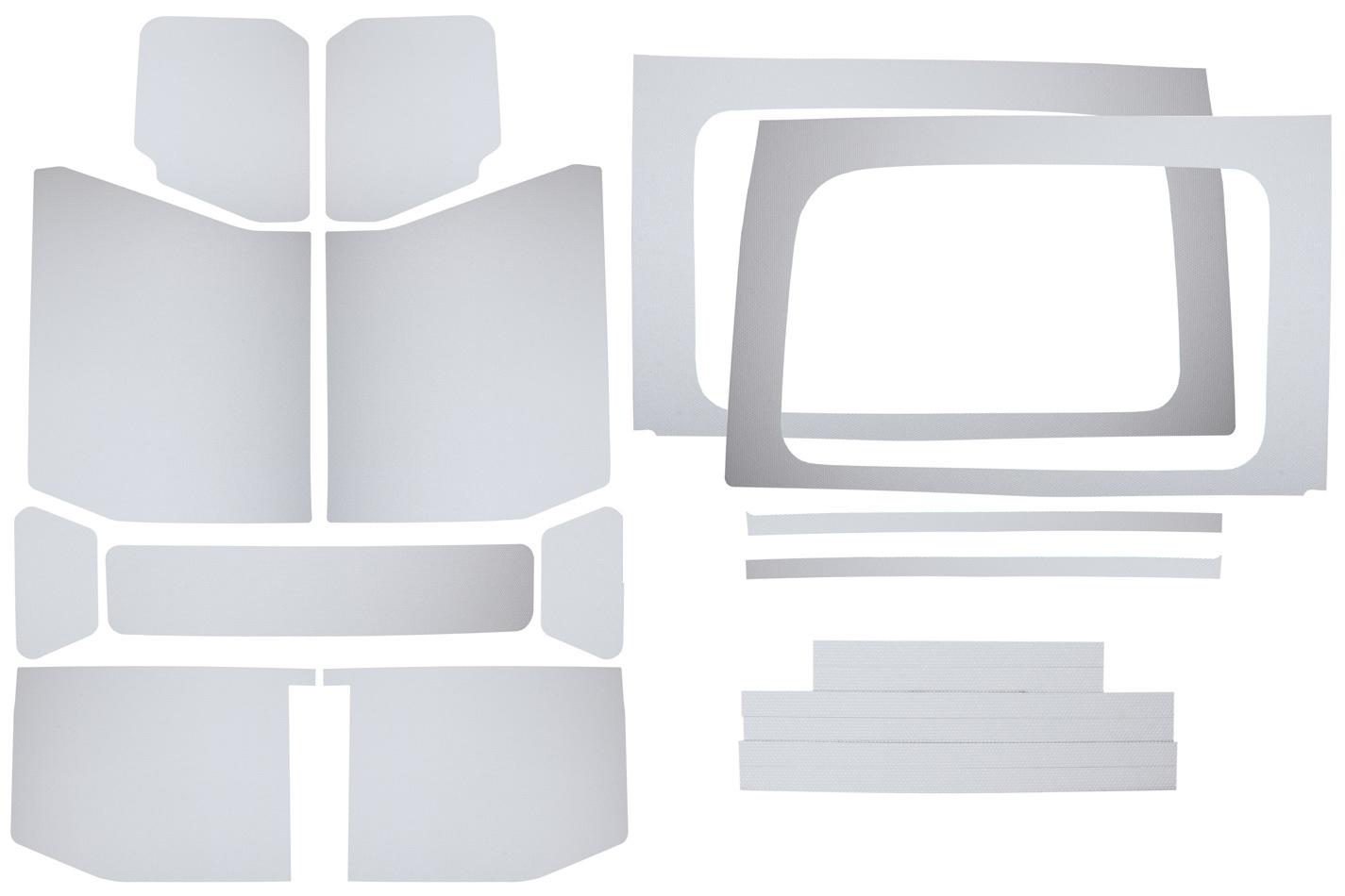 Design Engineering Jeep JL 4 DR 18-   Headl iner Kit White 13pc Com