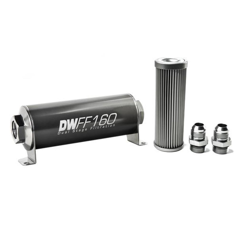 Deatschwerks In-line Fuel Filter Kit 10an 10-Micron
