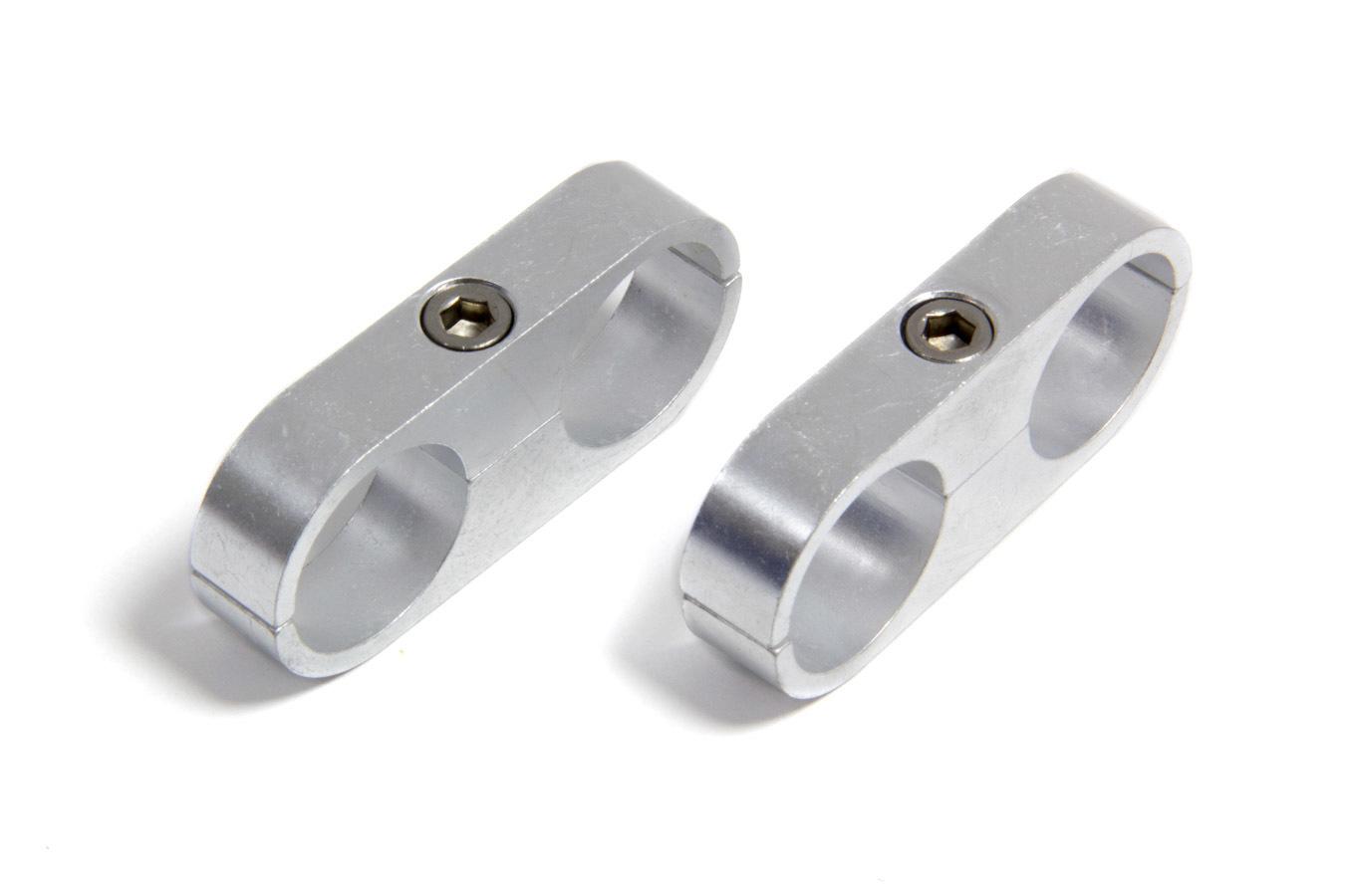 Earls 1in. Polished Alum. Hose/Tube Separator(2pk)