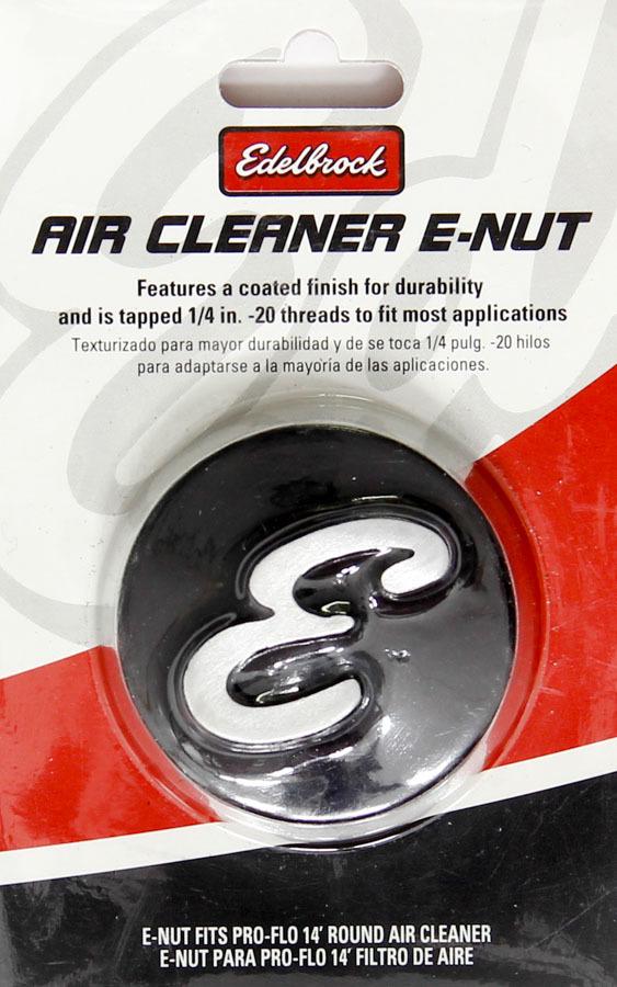 Edelbrock Nut - Air Cleaner 2-1/8 Dia. Black Anodiized