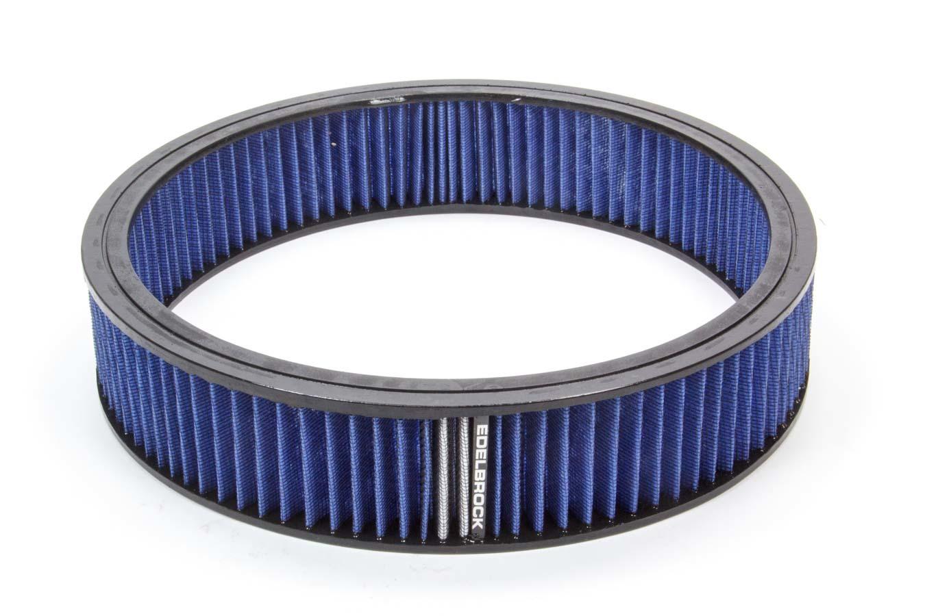 Edelbrock Air Filter Element Blue 14in x 3in