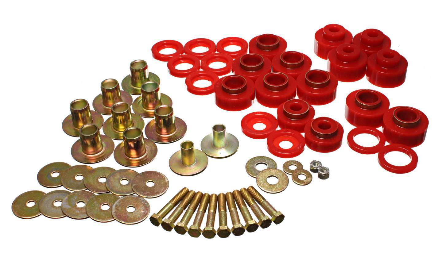 Energy Suspension Body Mount Set With Hard ware