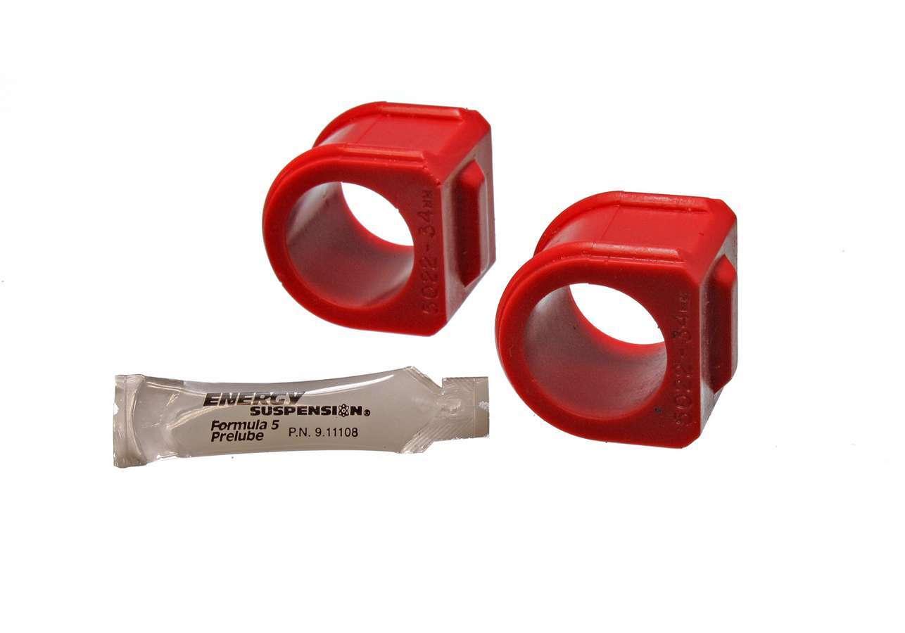 Energy Suspension Gm 34mm Frt Stab Bushing Set Red