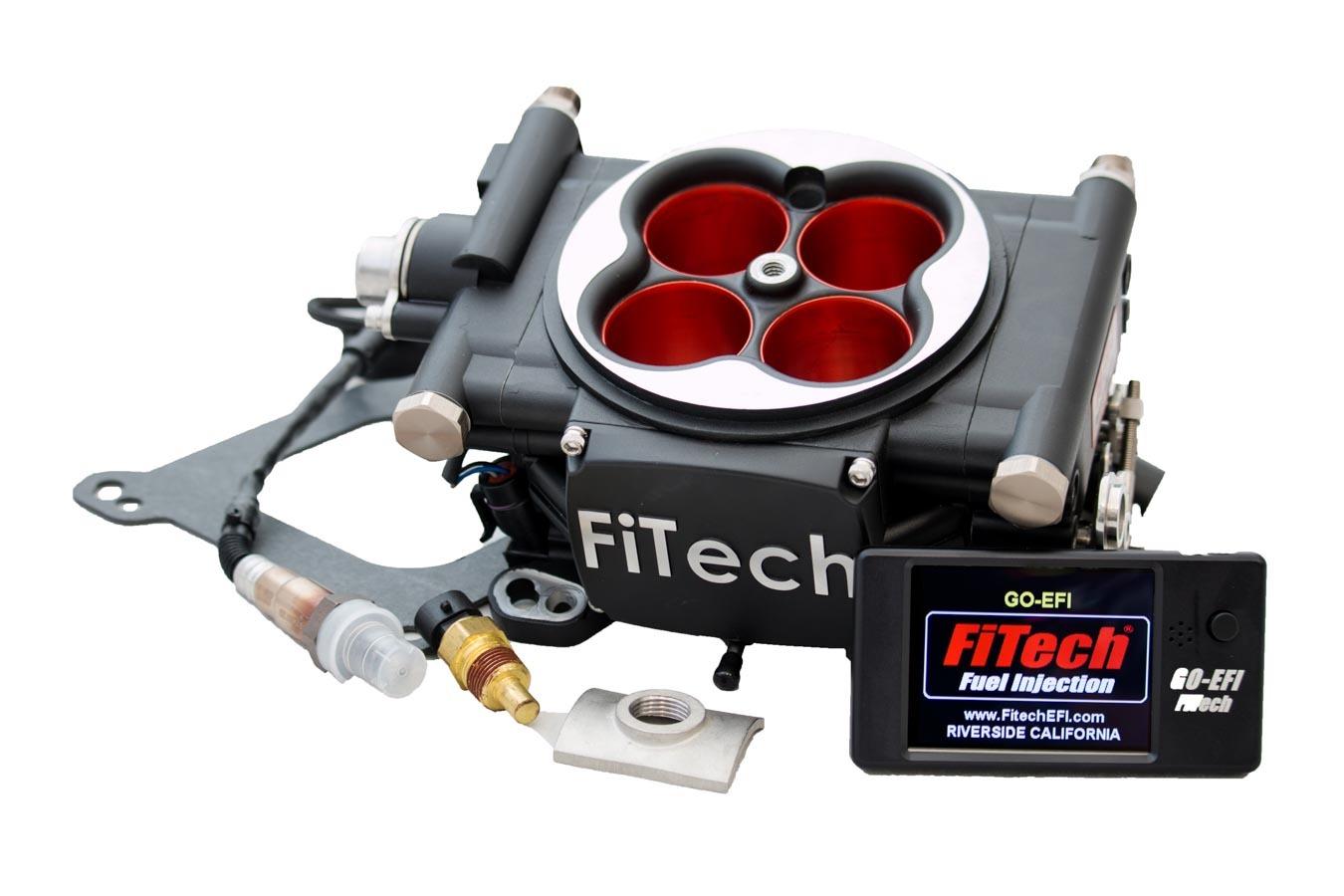 Fitech Fuel Injection Go EFI Power Adder 600hp Kit Matte Black