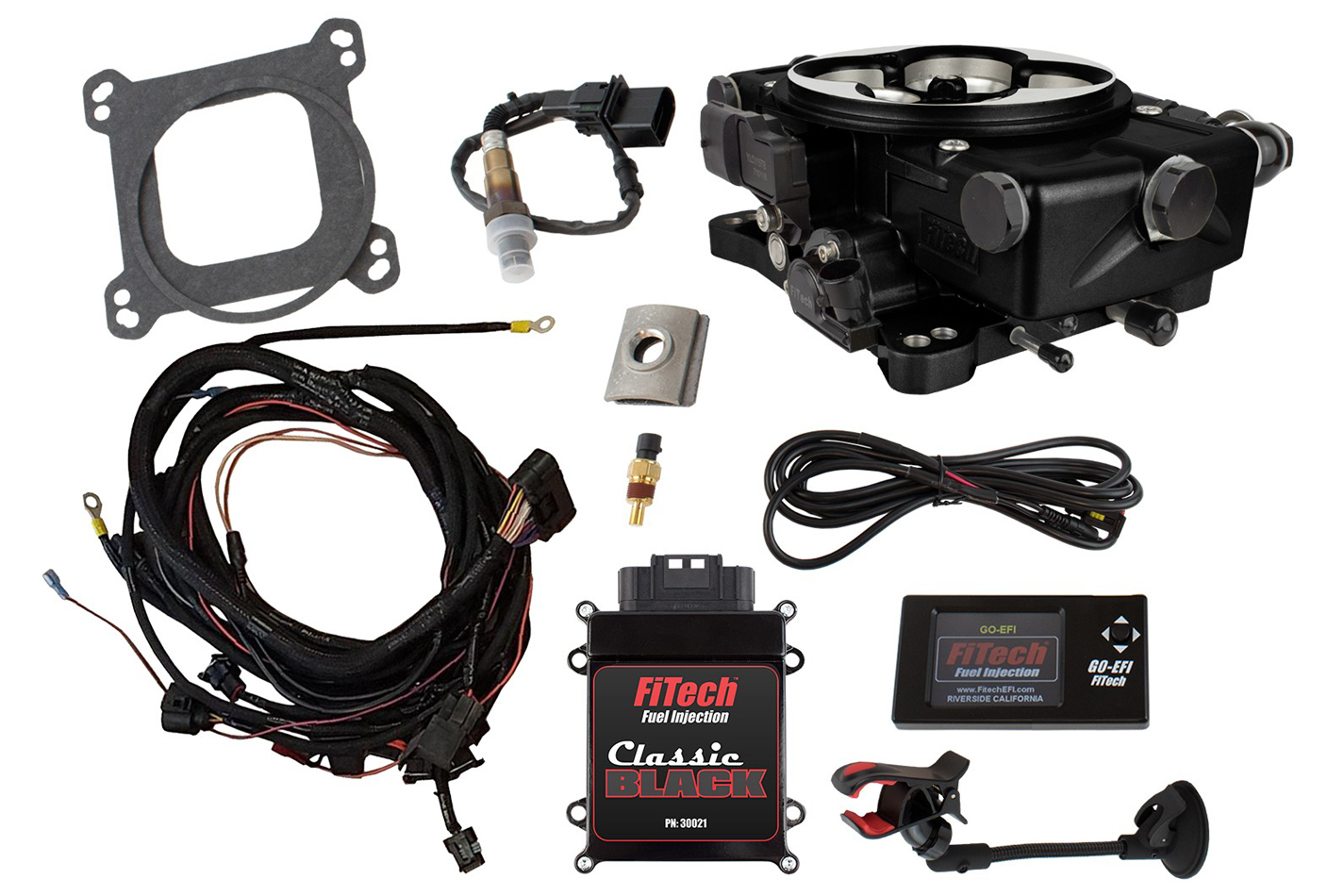 Fitech Fuel Injection Go EFI Classic 550 HP EFI w/External ECU Black