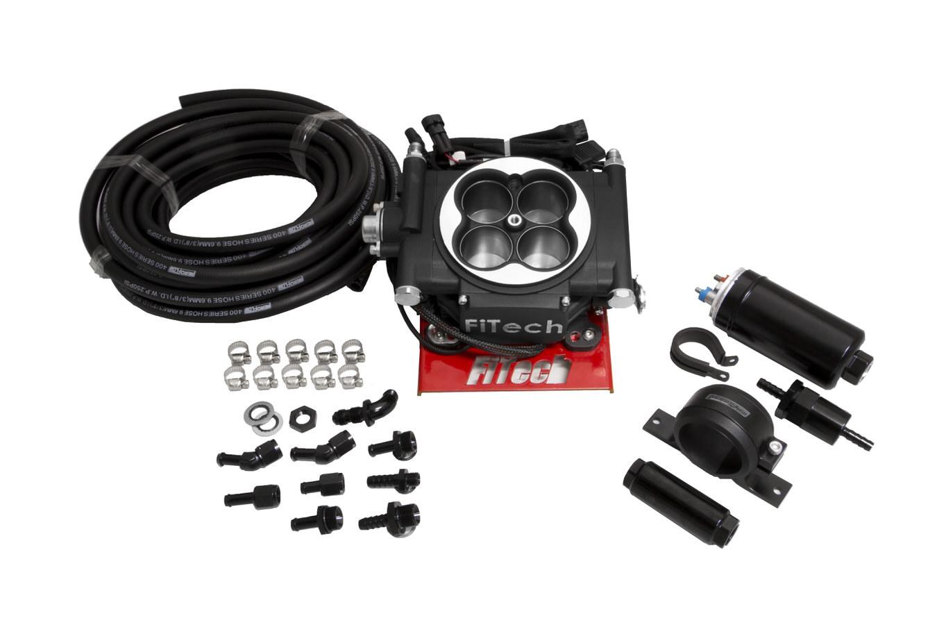 Fitech Fuel Injection Go EFI 4 Master Kit System Black Finish