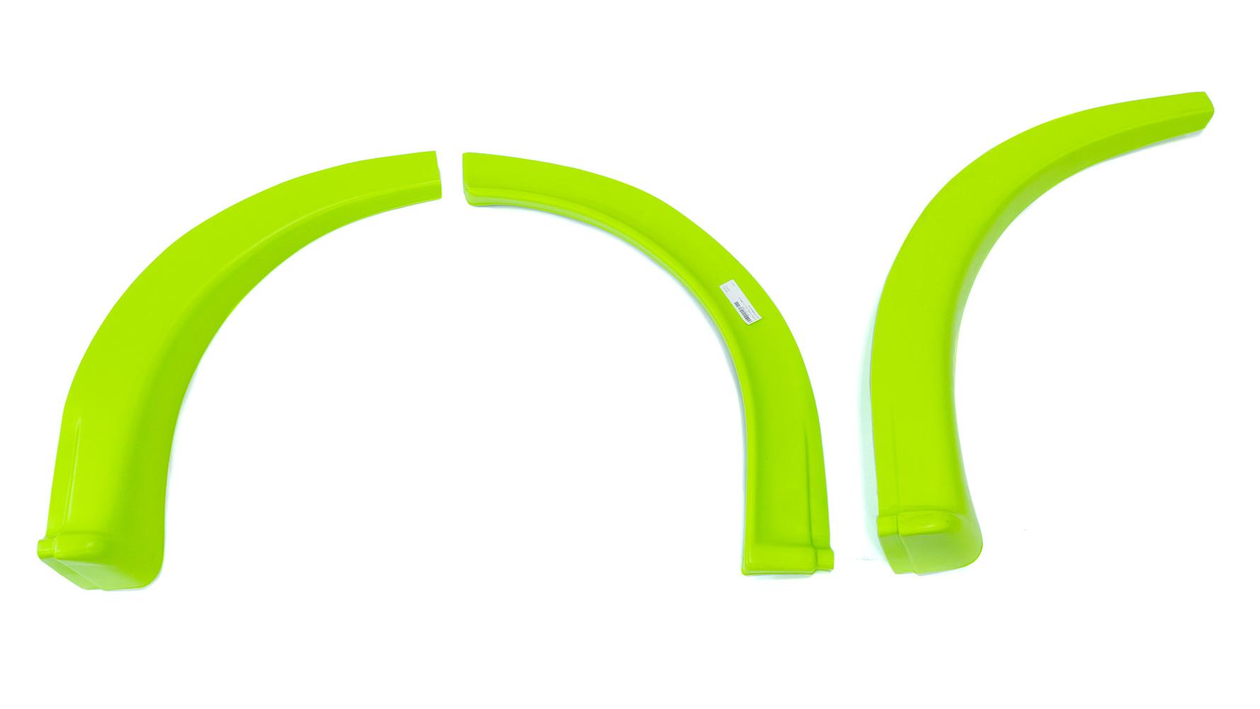Fivestar MD3 Wheel Flares Dirt Fluorescent Green Right