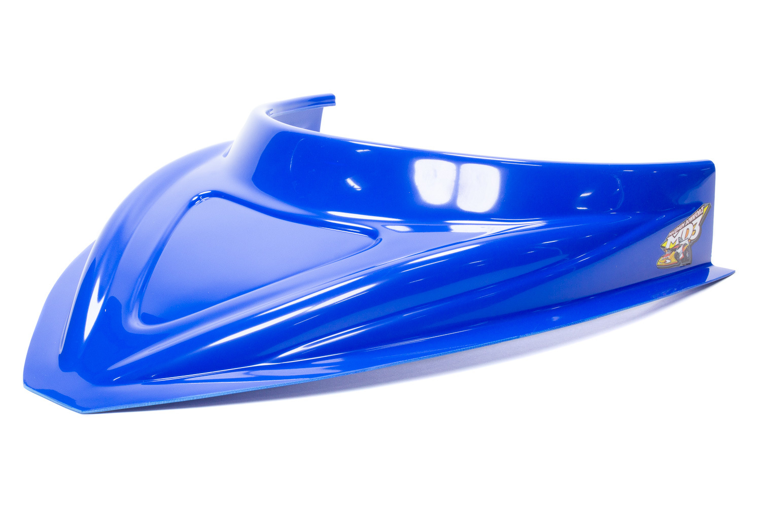 Fivestar MD3 Hood Scoop 3in Tall Curved Chevron Blue
