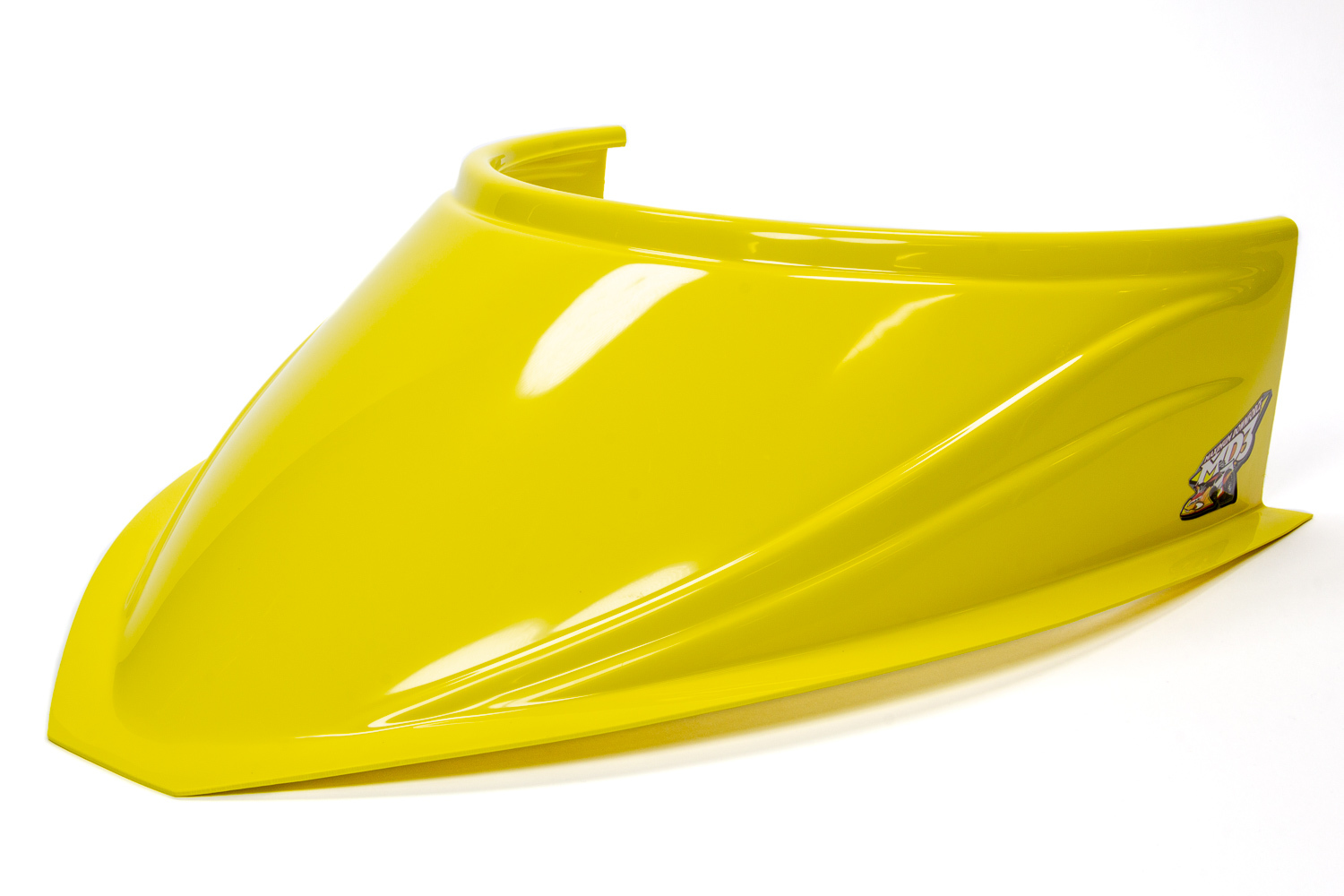 Fivestar MD3 Hood Scoop 5in Tall Curved Yellow