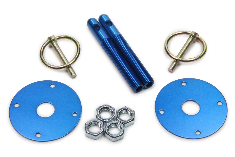 Fivestar Hood Pin Kit  3/8in Alum Blue 2-Pack
