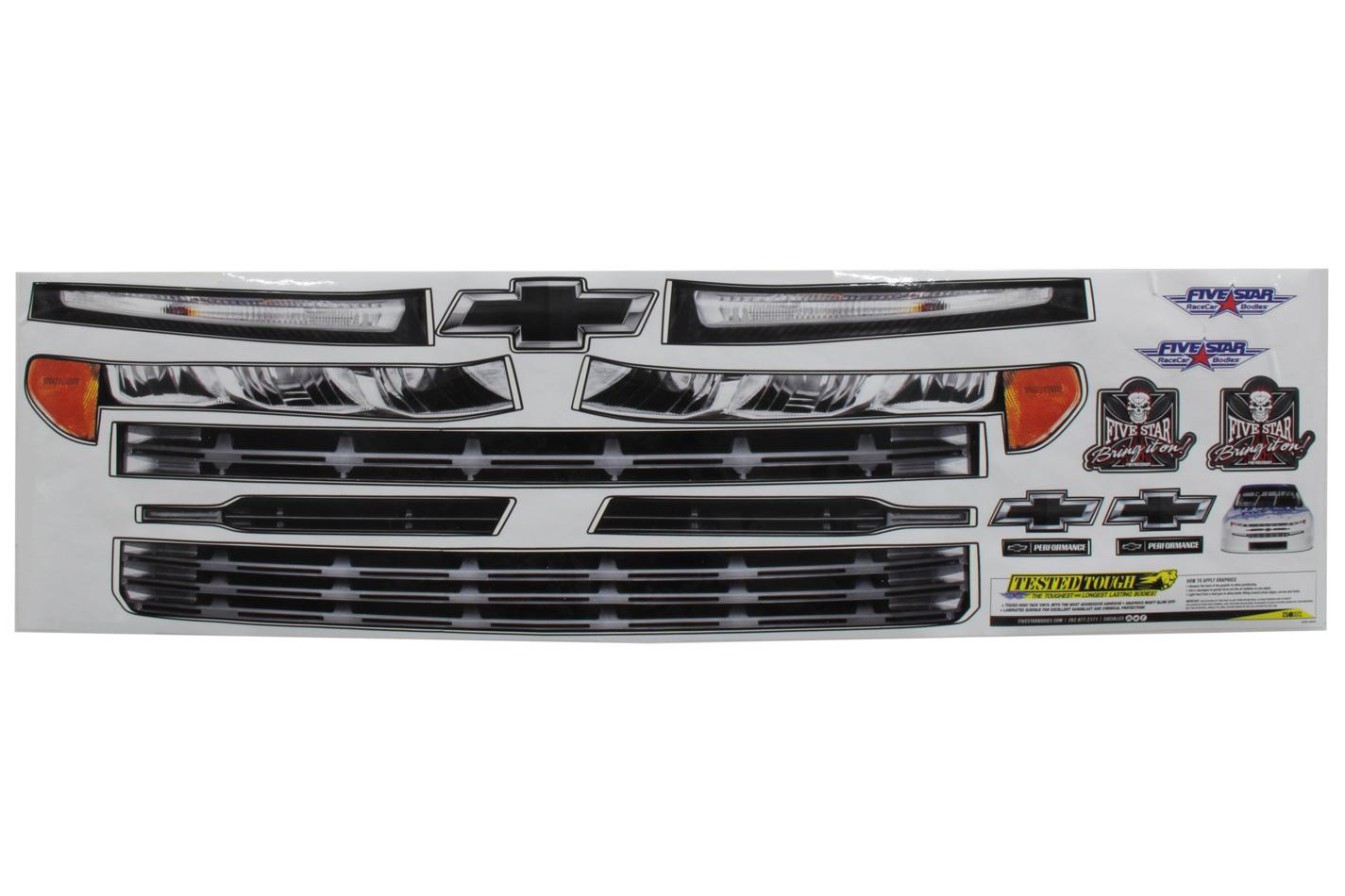 Fivestar 2019 Chevy Silverado Nose ID Graphics Kit