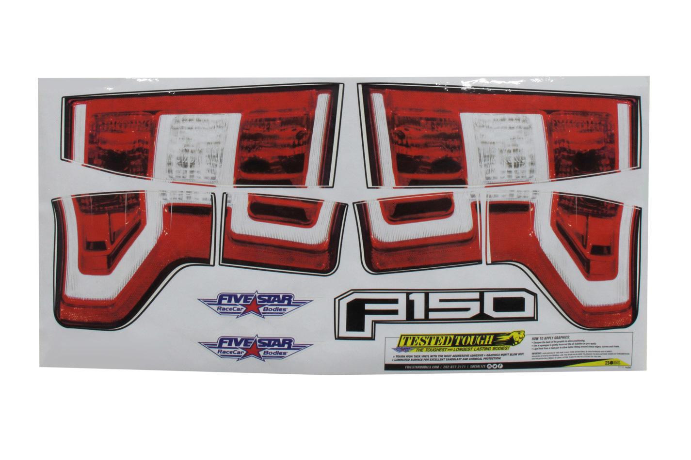 Fivestar 2019 Ford F-150 Tail ID Graphics Kit