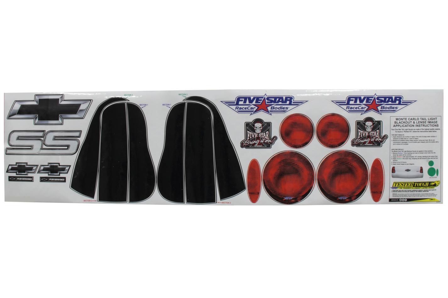 Fivestar 00 M/C Tailight Decals