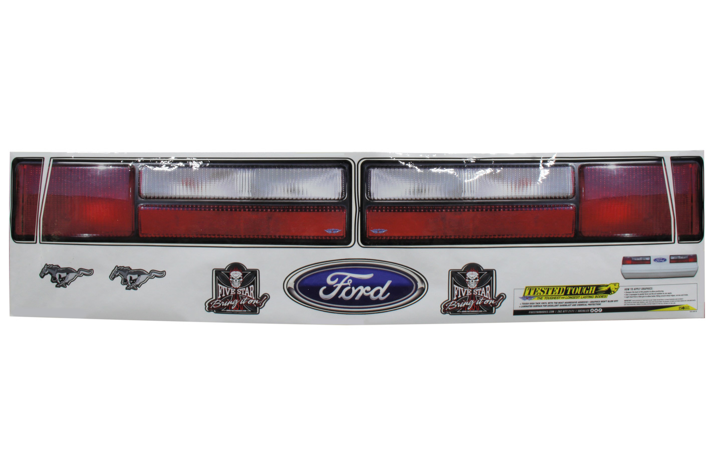 Fivestar Mustang Tail Graphics