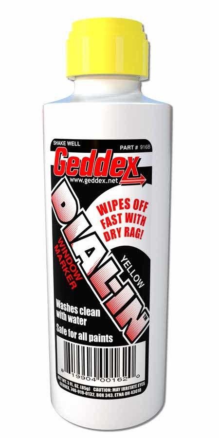 Geddex Dial-In Window Marker Yellow 3oz Bottle