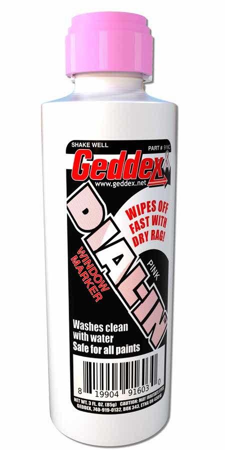 Geddex Dial-In Window Marker Pink 3oz Bottle