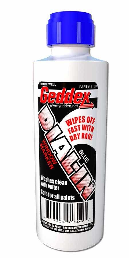 Geddex Dial-In Window Marker Blue 3oz Bottle