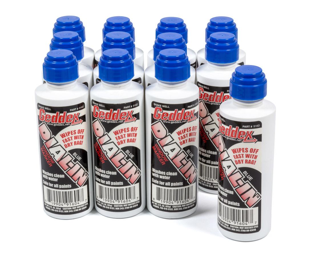 Geddex Dial-In Window Marker Blue Case 12x3oz Bottle