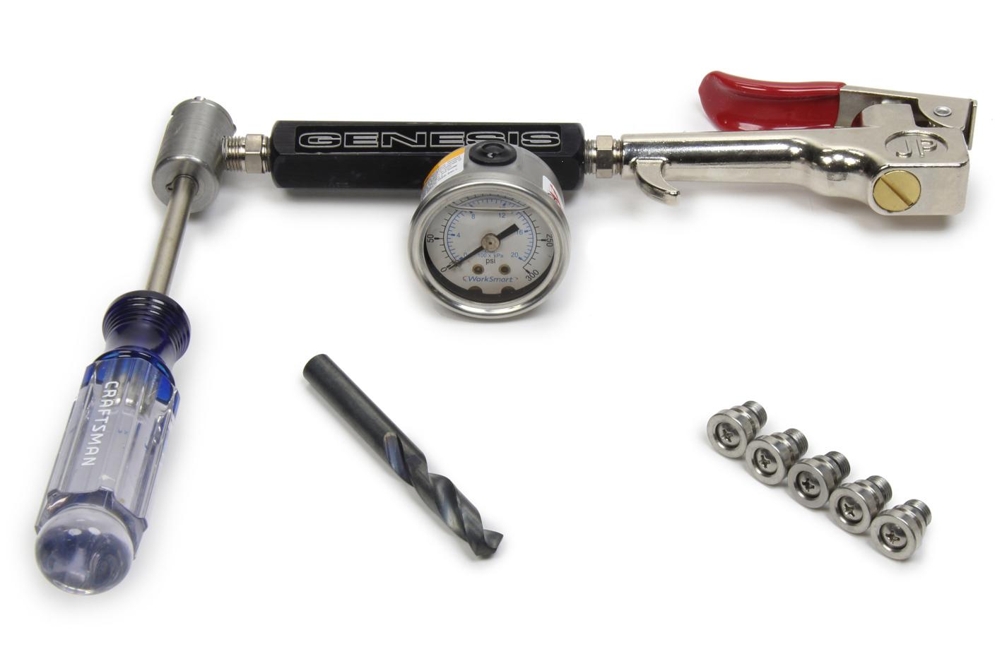 Genesis Shocks Non-Schrader Valve Re- Charge Tool Kit