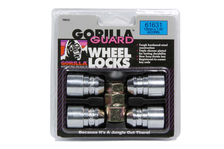 4 Gorilla Guard Locks Acorn 12mm x 1.50