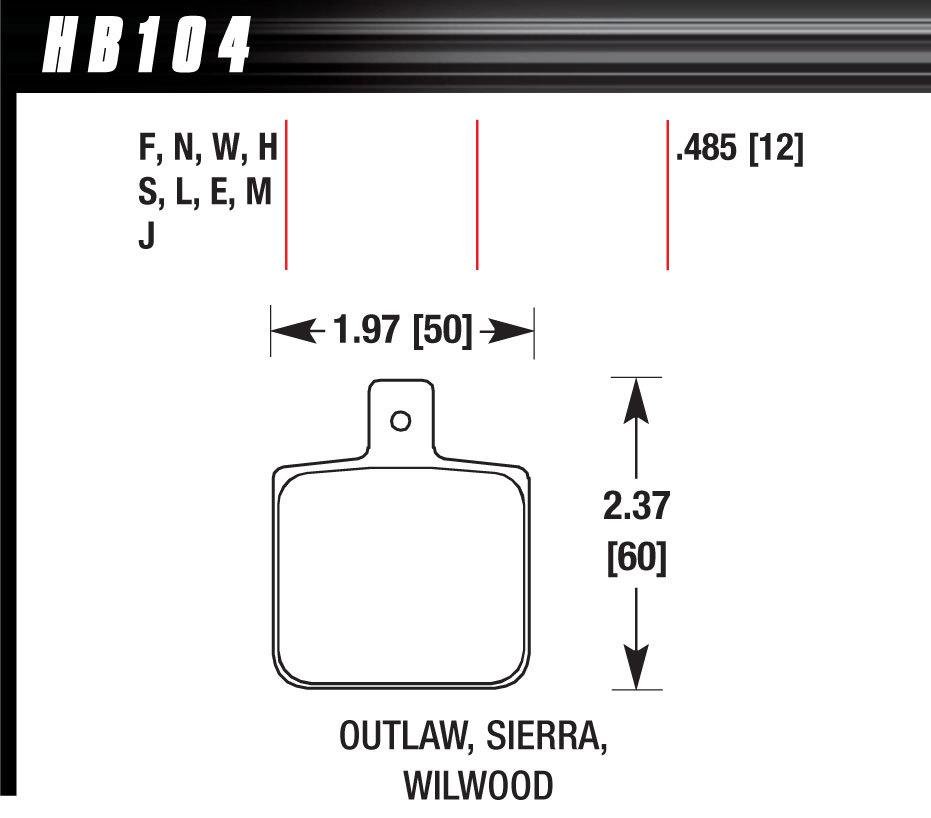 Hawk Brake DL Single/1000 DTC-30