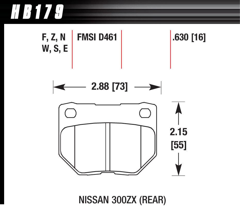 Hawk Brake Street Brake Pads Rear Nissan 300ZX HPS