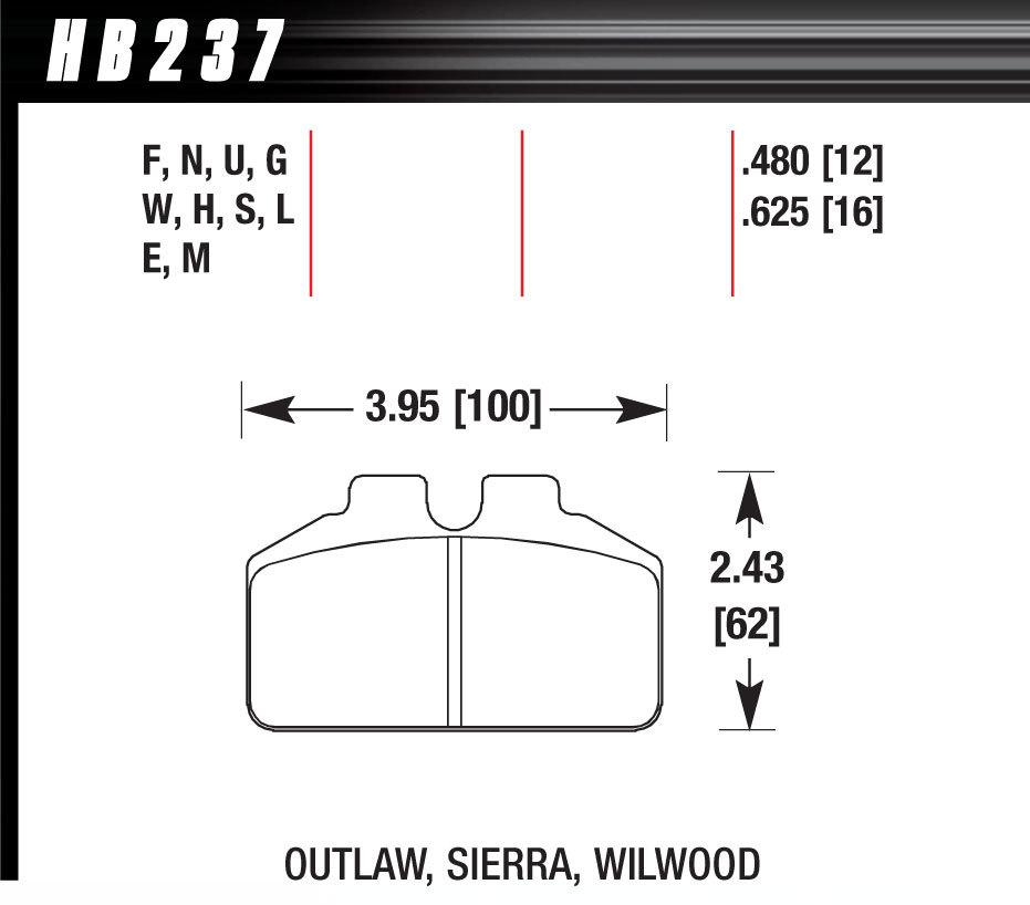Hawk Brake DL Bridgebolt DTC 70