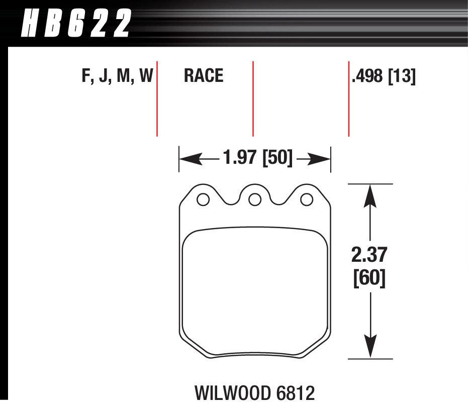 Hawk Brake Brake Pad Set Wilwood DLS DTC-30 6812