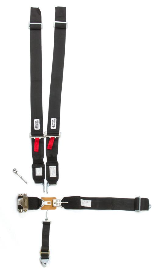 Hooker Harness 5-Pt Harness System LL USD Ratchet Adj Black